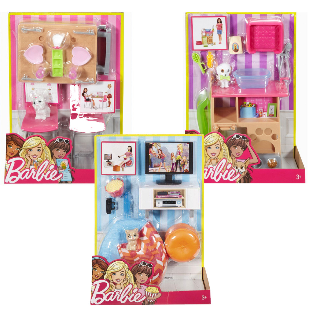 0c89d3ed3d6 Barbie έπιπλα εσωτερικού χώρου (3 Σχέδια) - Mattel #DVX44 | ToysForKids  e-shop