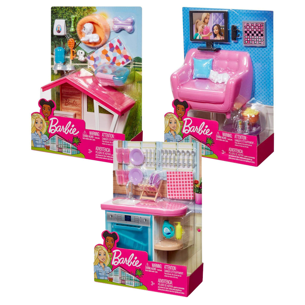 fec68ee55bc Barbie Έπιπλα εσωτερικού χώρου (3 σχέδια) - Mattel #FXG33 | ToysForKids  e-shop