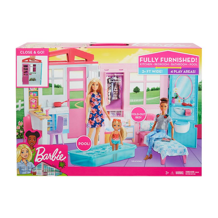 d9e855e1fec Σπιτάκι-Βαλιτσάκι Barbie - Mattel #FXG54 | ToysForKids e-shop