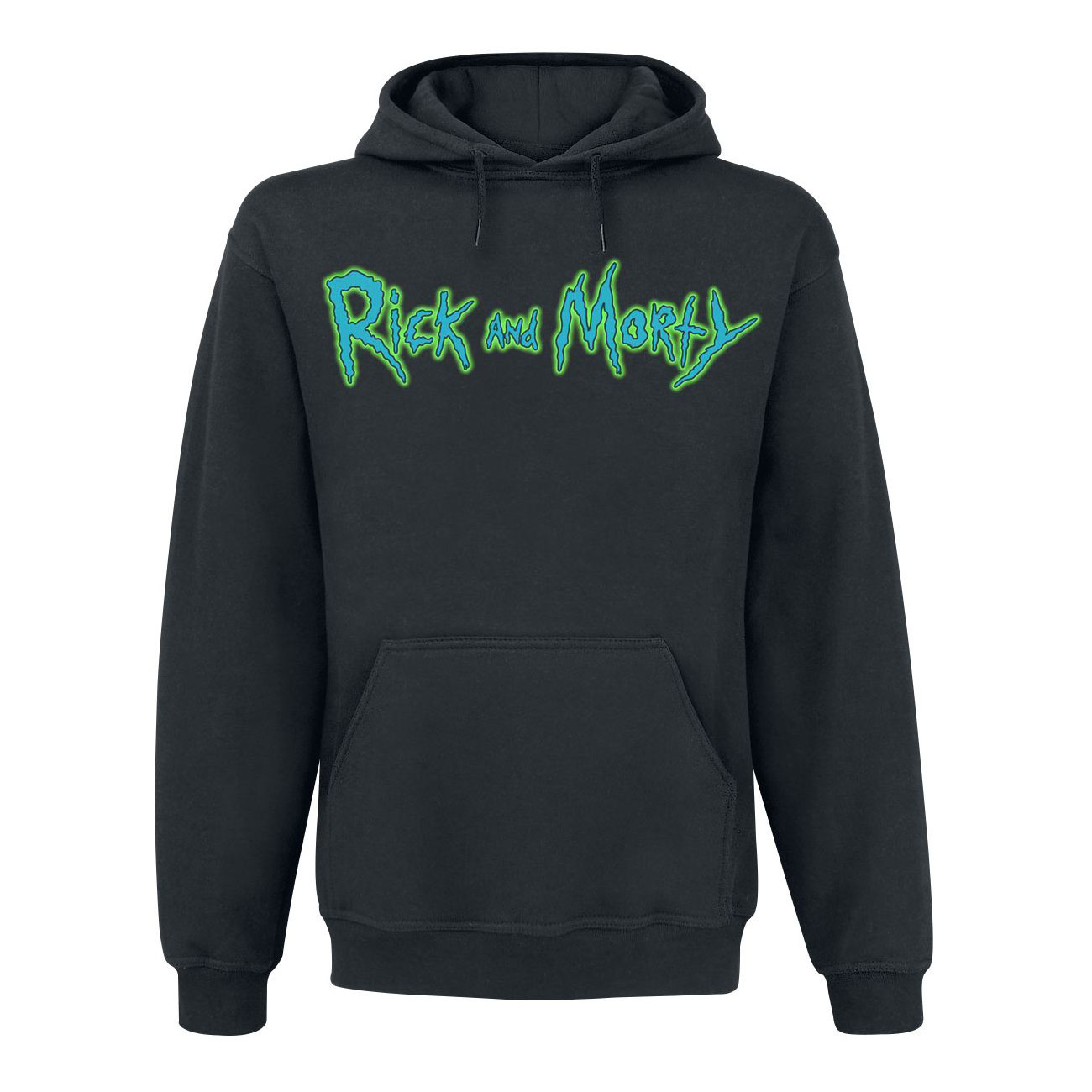 cb027689f54d Μπλούζα φούτερ με κουκούλα Rick and Morty-Riggity Riggity μαύρη size ...