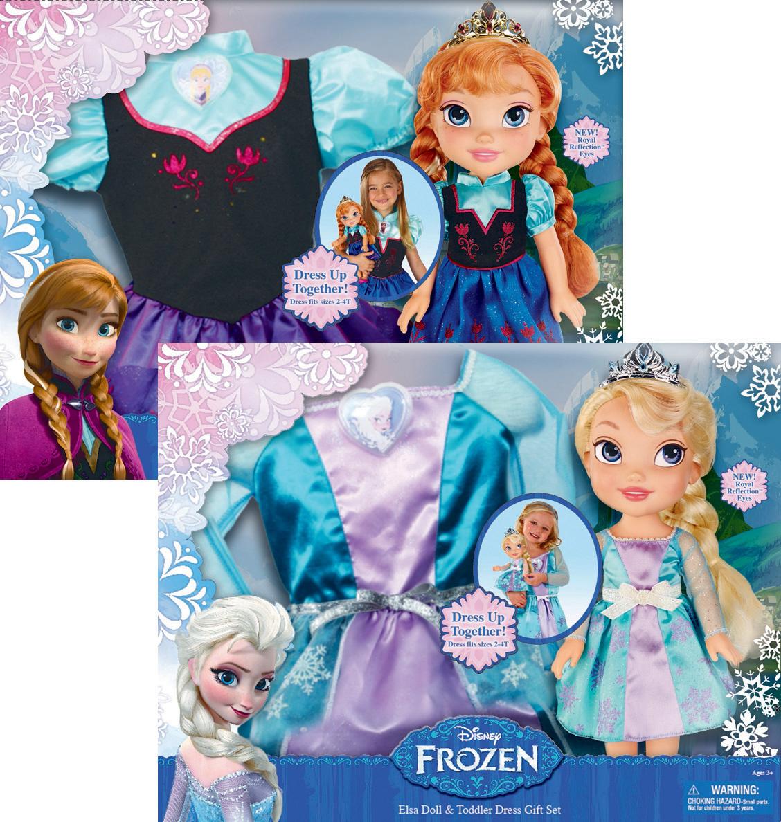 b4b2315238 Κούκλες Frozen νήπια μαζί με αληθινό φόρεμα 34εκ.