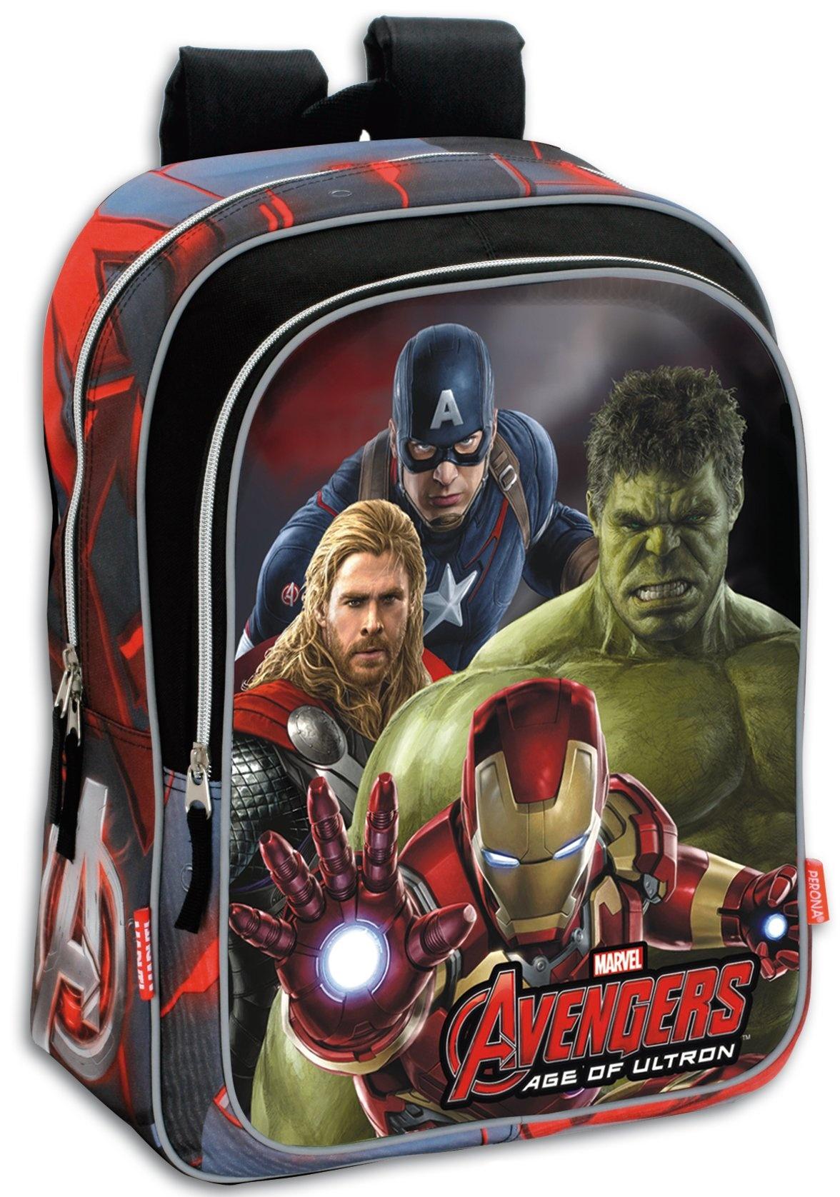 6e03ee75ad5 Τσάντα με μπροστινή θήκη Avengers κόκκινο 42*32*14cm | ToysForKids e ...
