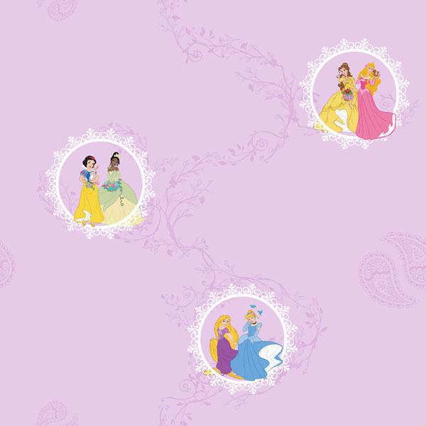 Ταπετσαρία τοίχου princess μωβ